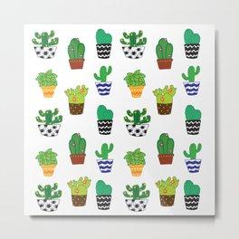 Cacti in pots Metal Print