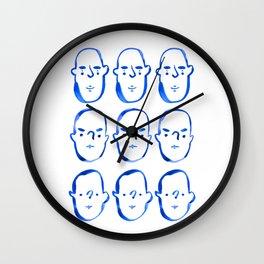 Blue Faces 2 Wall Clock