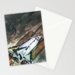 Rocket Ship - 21, Mar. 2010 - Tonight's Watercolor Stationery Cards