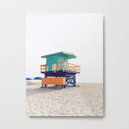 Miami Beach Life Guard Post Metal Print