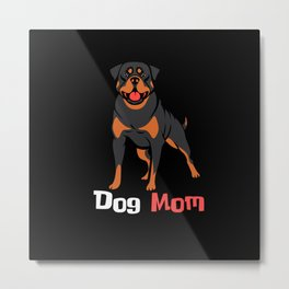 Dogs Mom Cute Cute Shirt Design Metal Print