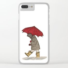 Playing in the Rain Clear iPhone Case