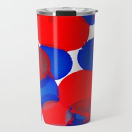 Blue Meets Red Travel Mug