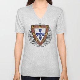 Old School Crest (Updated) Unisex V-Neck