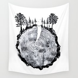 Over the River and Through the Woods Wall Tapestry