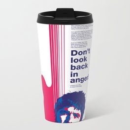 Noel Gallagher - Don't Look Back In Anger Metal Travel Mug