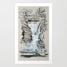 Local Gem # 5 - Lick Brook Art Print