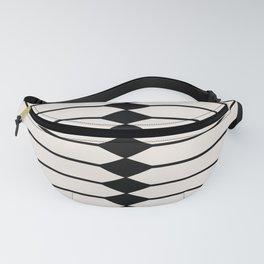 Minimal Geometric Pattern - Black and White Fanny Pack