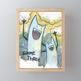 Gimme Three Framed Mini Art Print