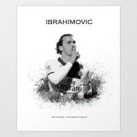 zlatan Art Prints featuring Zlatan Ibrahimovic by Sjors van den Hout