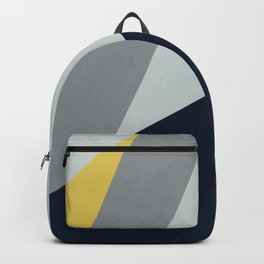 Paint blocks mid century modern textured art stripes Backpack