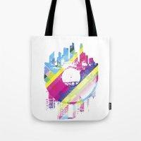 deadmau5 Tote Bags featuring Urban Vinyl V2 by Sitchko Igor