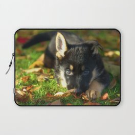 Cute 8 weeks old shepherd puppy Laptop Sleeve