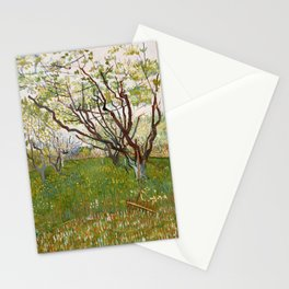 Flowering Orchard by Vincent van Gogh Stationery Cards