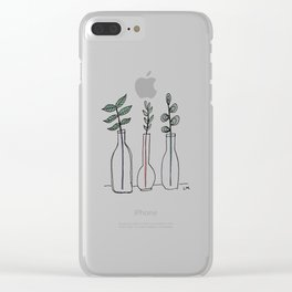 Bottled Plants Trio Clear iPhone Case