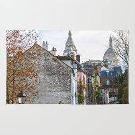French street in Montmartre, Paris Rug
