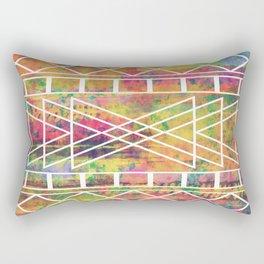Aztec Andes Tribal, Geometric Shapes Pattern, Itaya Rectangular Pillow
