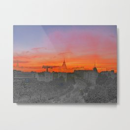 ST-art Sky over Hamburg Metal Print
