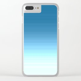 Sea blue Ombre Clear iPhone Case