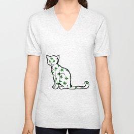 SCAREDY CAT (Cool Colors) Unisex V-Neck