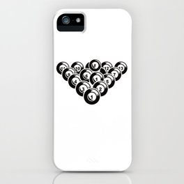 Billiard Pool Balls 8 Ball Gift iPhone Case