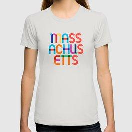 Massachusetts State Mid Century, Pop Art Mondrian T-shirt