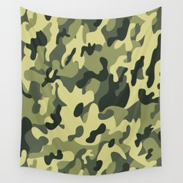 Camouflage  green art Wall Tapestry