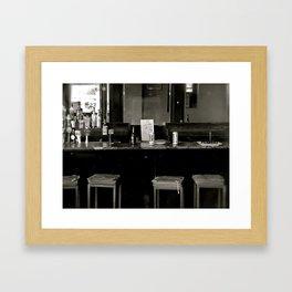 Shut 'er down. Framed Art Print
