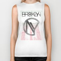 brooklyn Biker Tanks featuring BROOKLYN by designgraphics
