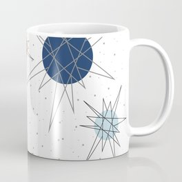 Atomic Stars Blue & Orange Coffee Mug