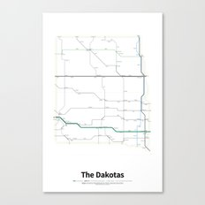 Highways of the USA – The Dakotas Canvas Print