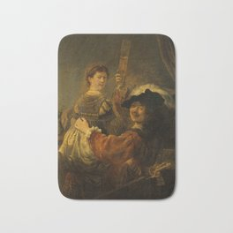 Rembrandt - Rembrandt and Saskia in the Scene of the Prodigal Son (1635) Bath Mat