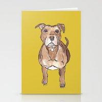 pitbull Stationery Cards featuring Pitbull by Tammy Kushnir