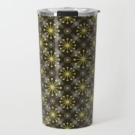 Starburst and Lines Mid Century Earth Colors Travel Mug