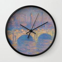 "Claude Monet ""Waterloo bridge"" Wall Clock"