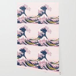 The Great Pink Wave off Kanagawa Wallpaper