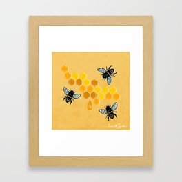 """Honeybees"" Framed Art Print"