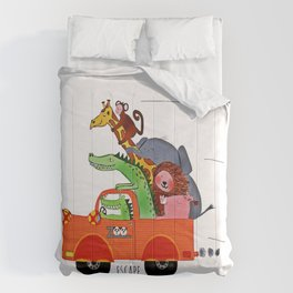 Escape from the Zoo! Comforters