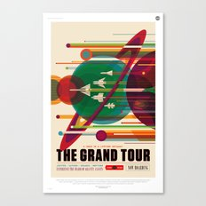 NASA/JPL Poster (The Grand Tour) Canvas Print