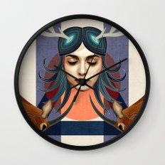 Antelope Girl Wall Clock