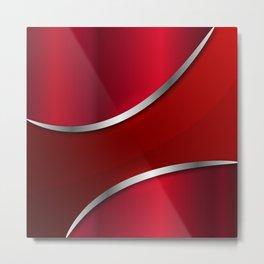 Metallic red full 180415 Metal Print