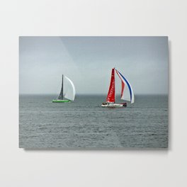 part 4 of 4 of Sailing Battle 42-56  - Transat Quebec St-Malo Metal Print