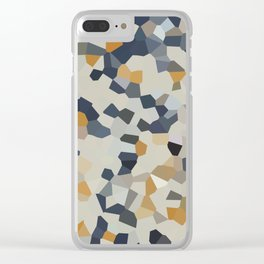 Mosaic Moon Glow Clear iPhone Case