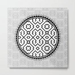 Amazonian Shipibo Pattern Metal Print
