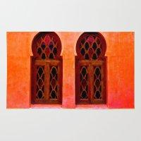 morocco Area & Throw Rugs featuring Morocco  by Xchange Art Studio