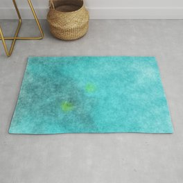 stained fantasy crystalline Rug