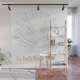 The Pretty Pigeon Wall Mural