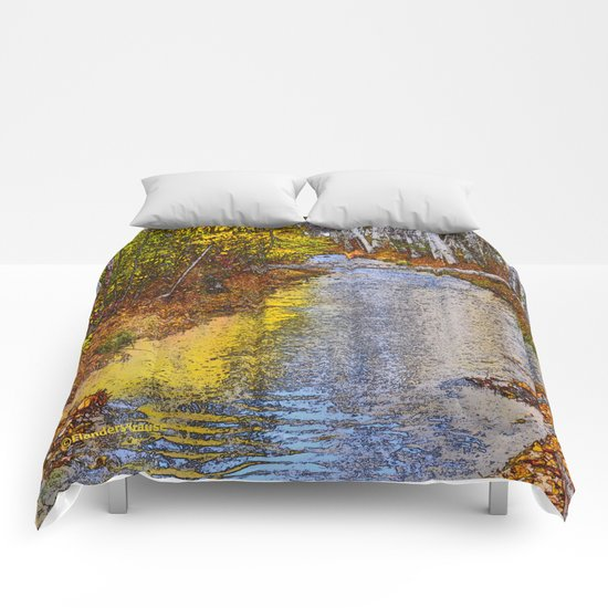Autumn Stream - Watercolor Comforters