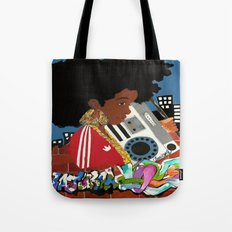 Old school Afro Tote Bag