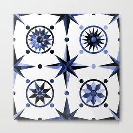 Nautica Blue Metal Print